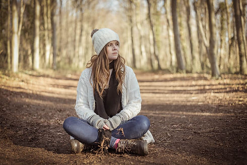 Woman in the Woods. Grumpy Gits Roadtrip. Portraits in the Park. People photography. People photographer. Digital nomad. Vanlife. Family photographer. Family photoshoot. EmC Photography. United Kingdom