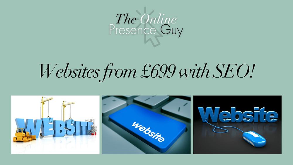 The £699 website deal. The Online Presence Guy. Web Design. Website Designer. Web developer. Wix Wesbites. Affordable websites. Website guarantee. Social Media Manager. Digital Marketing. London. Cambridge. United Kingdom