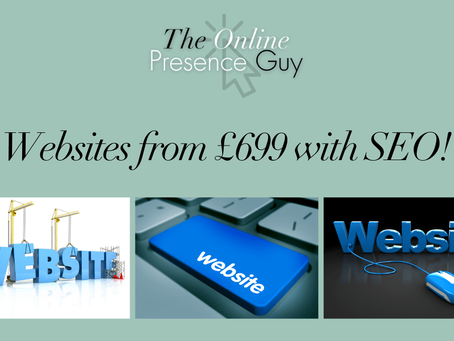 The £699 website deal - affordable websites for all