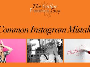 Top 9 common mistakes on Instagram