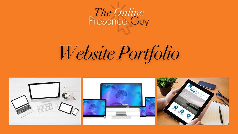 The Online Presence Guy's website portfolio. Web Design. Website Designer. Web developer. Wix Wesbites. Affordable websites. Website guarantee. Social Media Manager. Digital Marketing. London. Cambridge. United Kingdom