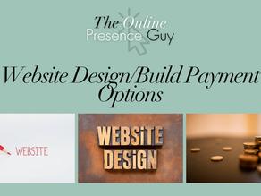 Website design payment plan options