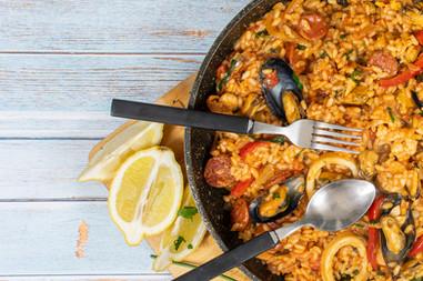Paella in a Pan