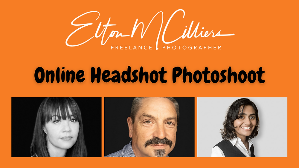 take a headshot. remote headshot photography. online headshot photography. headshot. headshot guidance. photograph editing. photography editing. image editing.