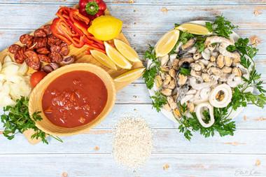 Paella Raw Ingredients