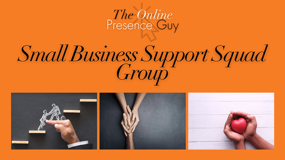 Small business support group. The Online Presence Guy. Web Design. Website designer. Creative. Social media manager. Digital marketing. Trainer. Business mentor. Cambridge. London. United Kingdom