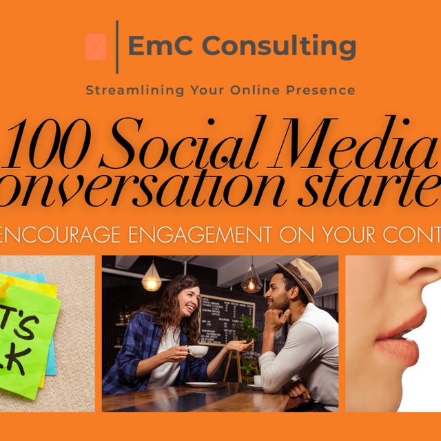 100 social media questions blog banner