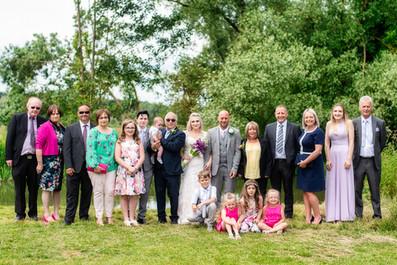 Family group wedding shot