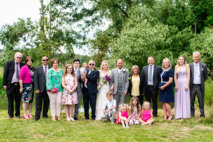 Family group wedding shot