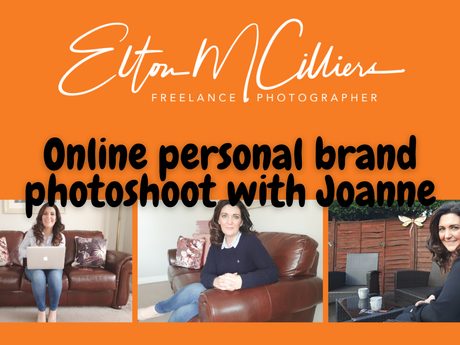 Virtual personal brand photoshoot with Joanne