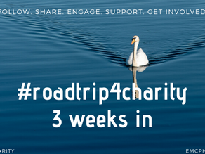 My experience with the #roadtrip4charity project thus far