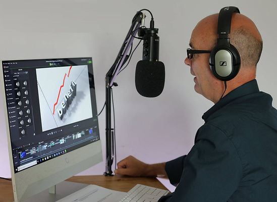 Jeff Norton recording elearning content. Lincoln, UK