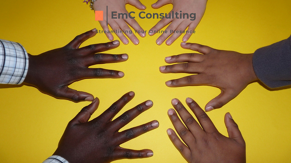 Inclusion. Business support. Facebook Group. Business advice. Social media. Marketing. Online marketing. Online business. Instagram. Facebook. Twitter. LinkedIn TikTok. Business. Support. EmC Consulting.