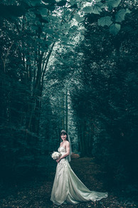 Bride in the Woods