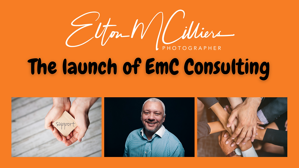 launch of emc consulting business mentor. business coach. social media manager. photographer. photography. graphic design. Website design. Website build.