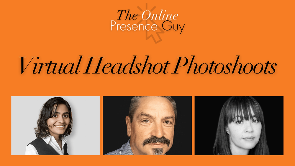 Virtual photoshoot. Virtual headshot photographer. Virtual headshot photography. Online photoshoot. The Online Presence Guy. Cambridge. London. United Kingdom.