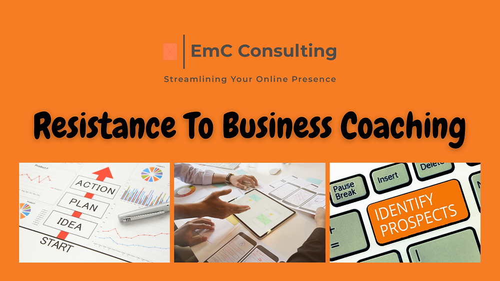 Resistance to business coaching. Business coach. Business mentor. Resistance. Business success. Success in business. Small business support. Social media management. Social media manager. Website design. Webdeveloper. Wix website design. Wix website build.