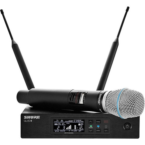 SHURE QLXD24/BETA87A HANDHELD WIRELESS MICROPHONE SYSTEM
