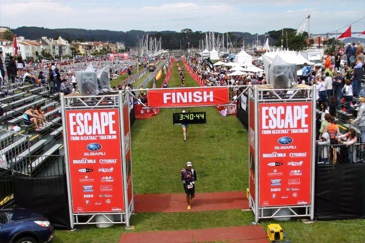 Aldo Finishes Escape from Alcatraz Triathlon