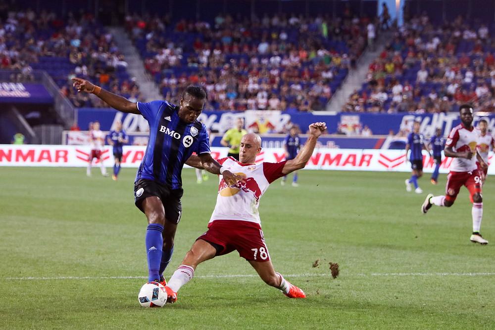 Collin y Didier Drogba en Red Bull Arena