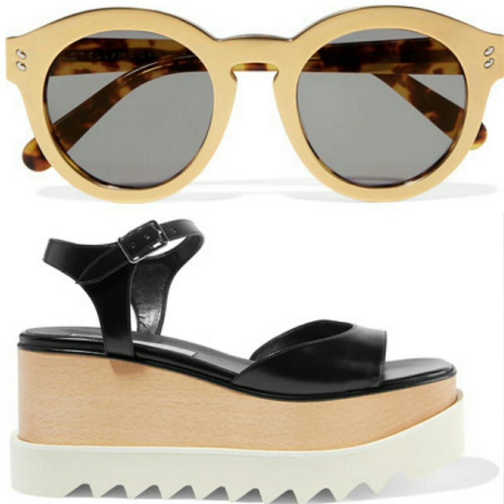 Duurzame sandaal en zonnebril van Stella Mc Cartney