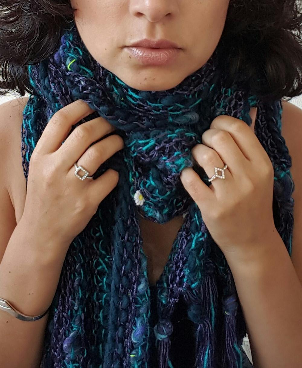Petronelle sjaal van biologische wol