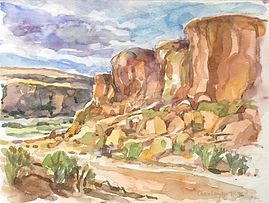 Chaco-Canyon-watercolor-722x922-e1493209