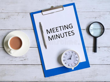Minutes from 7/7/21 Board Meeting