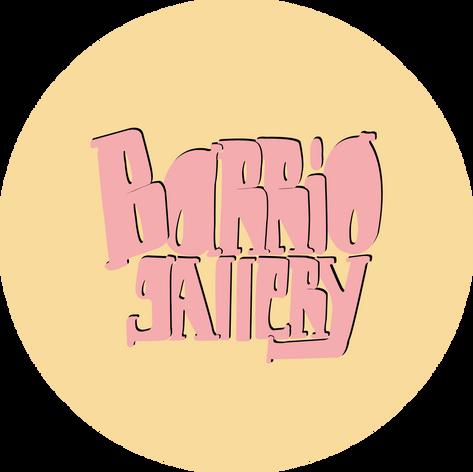 logotipo barrio gallery rosa fondo amari