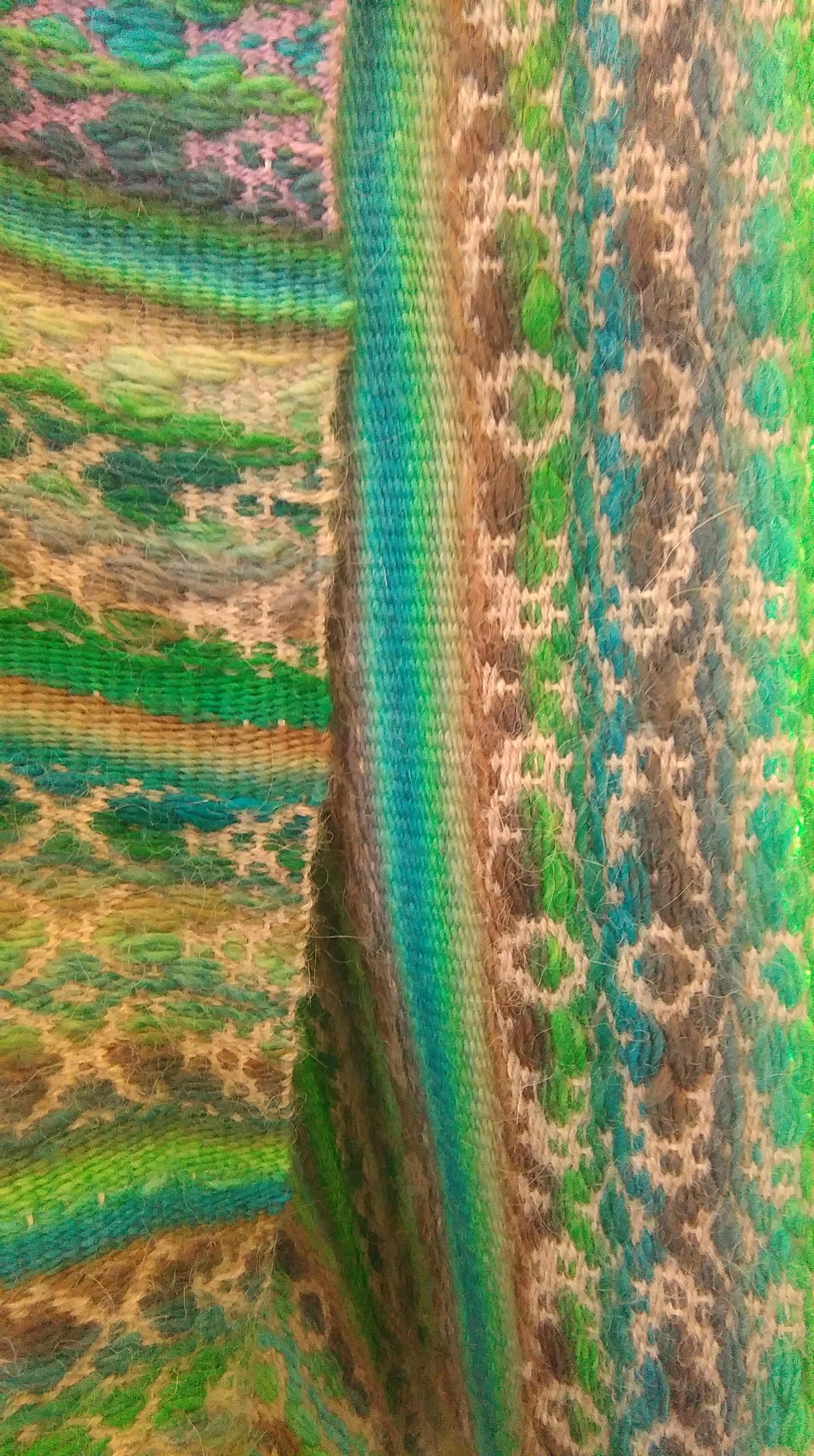 détail boléro vert
