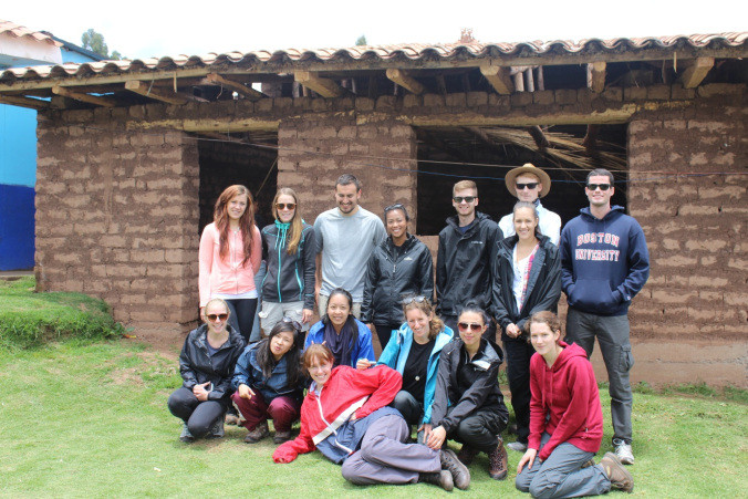 The gang in front of the classroom that we will be completing