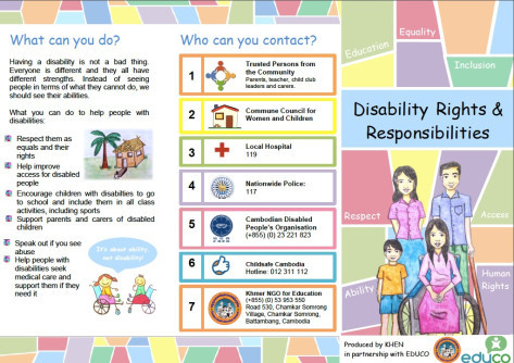 Our colourful, simple brochures aim to educate children about universal rights
