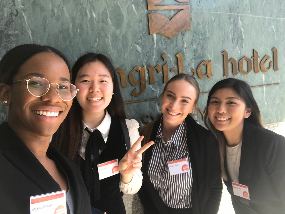 Psychology interns representing the Bawurra Foundation at the Mental Health Matters Awards at the Shangri La Hotel, September 2018