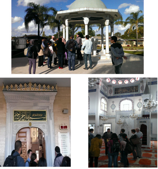 At the Mosque with our tour guide Randolf