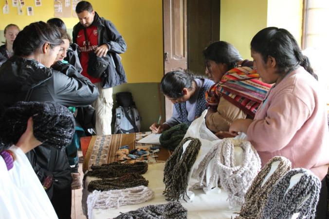 Macquarie volunteers buying everything in the Women's Workshop