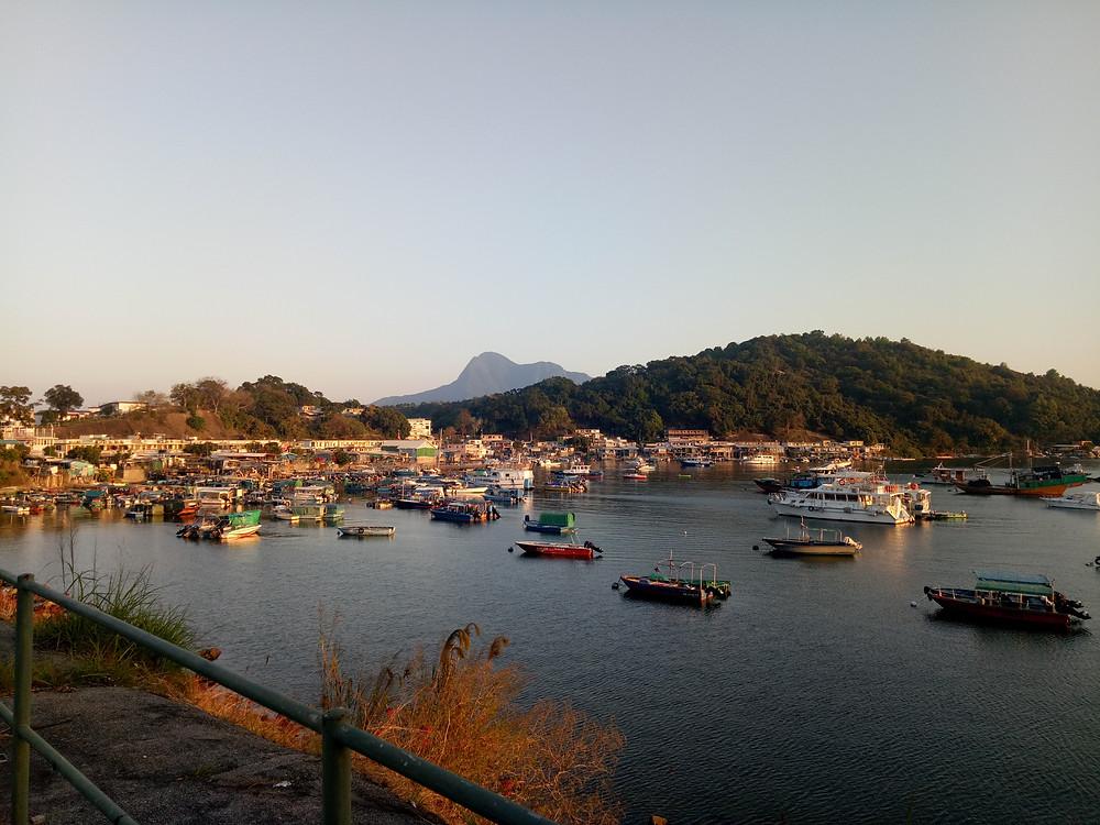 Sunset at Luen Yick Fisherman's Village, near Tai Po.