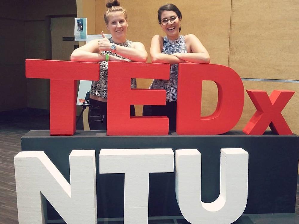 My Finnish roommate, Heidi, and I at TedX Nanyang Technological University