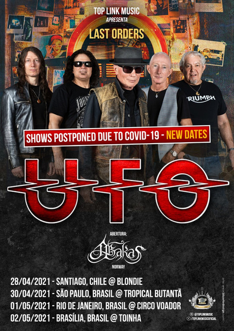 """Abakas joins UFO for their """"Last Orders"""" tour in South America (2021)"""