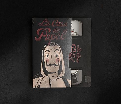La Casa de Papel. Cover. VHS. Diogo Ramoreira Lettering Artist.