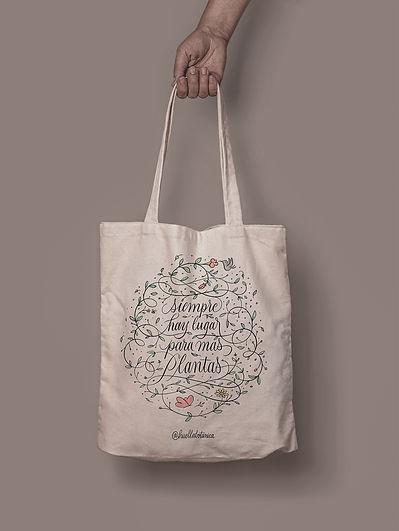 Tote Bag Lettering huella botanica Diogo
