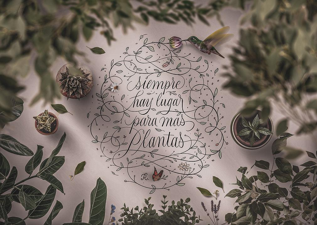Foto portada Lettering huella botanica D
