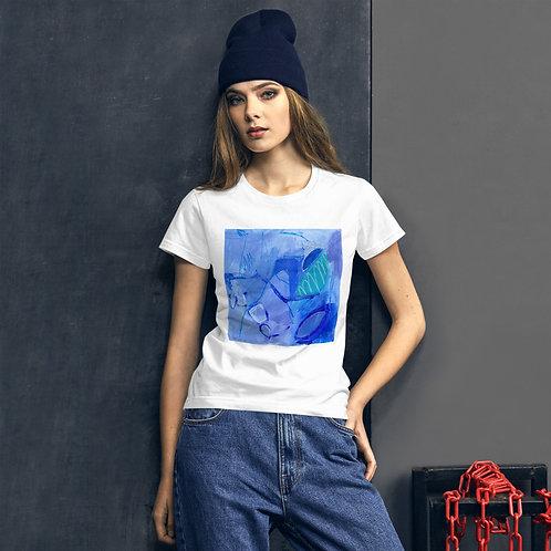 T-shirt Bleu de mer.