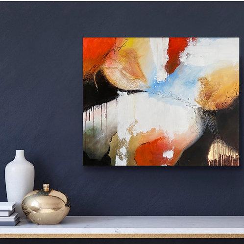 """""""Euphorie"""". Format 73x60 cm."""