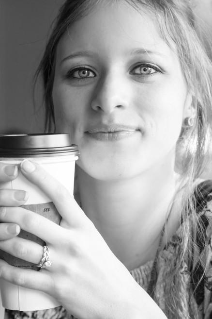 Portrait at coffee shop