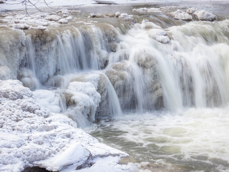 Minneopa State Park in the Winter