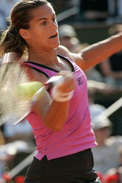 Amélie Mauresmo à Roland Garros
