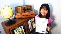 英検2級に合格した小学生の英語インタビュー