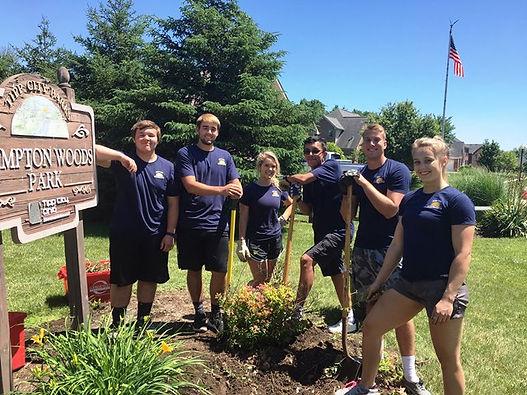 Tipp City Teen Leadership group with fou