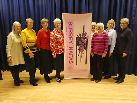 Left to Right - Jackie Squance, Brenda Fox, Linda Travis, Chris Brown, Dee Kelly, Linda Mumford, Helen Andrew, Margaret Trepant