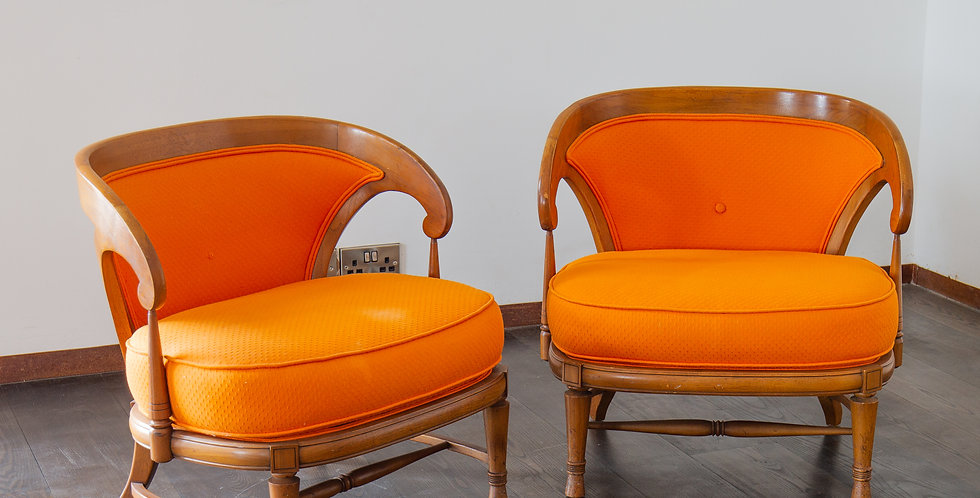 Pair of Wooden Framed Chairs circa 1970
